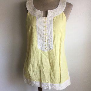 Lilly Pulitzer sunshine cotton sleeveless blouse 8